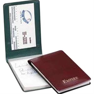 "Prestige - Premium Simulated Leather Jotter With Heat Sealing. 2 7/8"" X 4 1/4"""