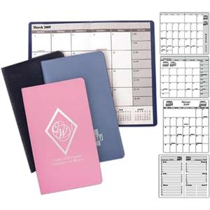 Vinyl - Academic Style Monthly Planner, Month On A Page Format With 32 Pages