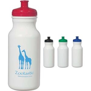 Evolve (tm) Hitgreen (tm) - Water Bottle With Leak Resistant Push And Pull Lid, 20 Oz