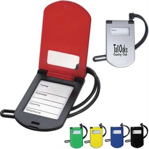 Flip Luggage Tag In Sturdy, Durable Plastic With Id Holder