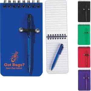 Spiral Jotter, 50 Page Lined Notebook And Pen