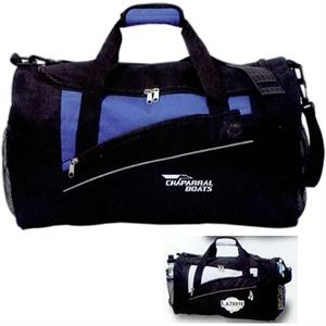 Solara - Polyester Duffel Bag With Reflective Trim And Side Mesh Pockets