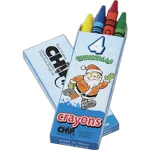4 Count Seasons' Greetings Crayon Pack