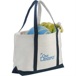 Premium (r) - Premium Heavy Weight Cotton Zippered Boat Tote