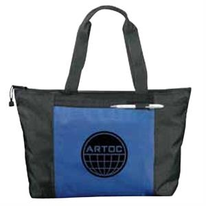 Excel Sport - Zippered Meeting Tote With Zippered Main Compartment