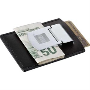 Zippo(R) Spring Loaded Leather Money Clip