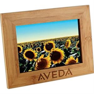 "Bamboo Photo Frame. Holds Standard 4"" X 6"" Photos"