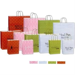 "Kaleidoscope Paper Shopping Bag. 16"" X 6"" X 13"""
