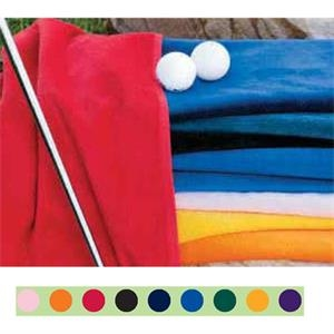 "Turkish Signature (tm) - Tone On Tone With Embroidery On Color Towel - Ultra Weight 100% Cotton Golf Towel. 16"" X 25"""