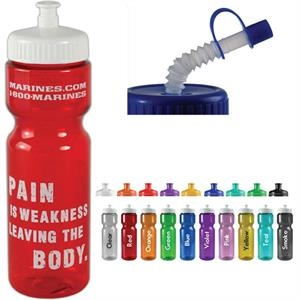 Personal Refillables (tm) - Transparent Sports Bottle, 28 Oz., Heavy Wall Design For Multiple Use