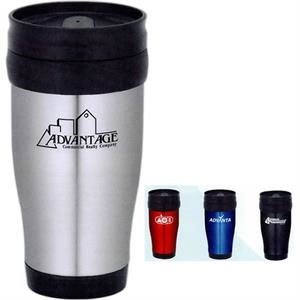 Madison - Double Wall Travel Tumbler With Plastic Liner With Stainless Steel Outer Shell