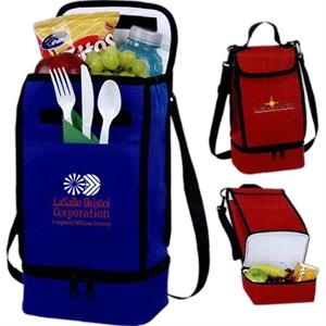 Polycanvas Dual Compartment Insulated Lunch Bag