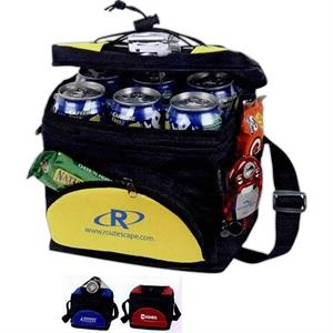 Polycanvas Waterproof Lunch Bag, Foam Insulated And Adjustable Top Lacing