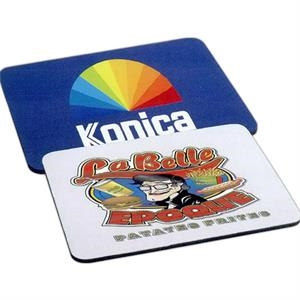 "Rectangular 1/4"" Rubber Backing Mouse Pad With Polyester Surface"