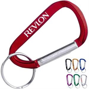 Carabiner, 6mm, With Split Key Ring