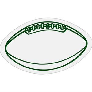 Football - Die Cut Car Magnet, Adheres To A Vehicle Door Or Other Metal Surface