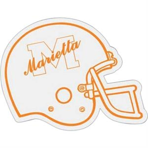 Football Helmet - Die Cut Car Magnet, Adheres To A Vehicle Door Or Other Metal Surface