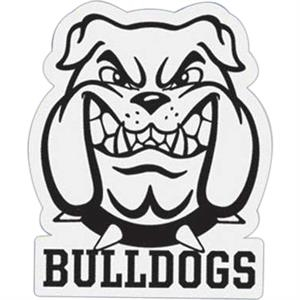 Bulldog - Die Cut Car Magnet, Adheres To A Vehicle Door Or Other Metal Surface