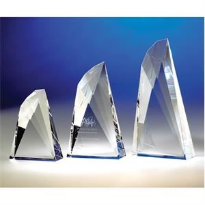 "Flight - Flight 6"" Wing-shaped Crystal Award By Crystal World. Sp191"