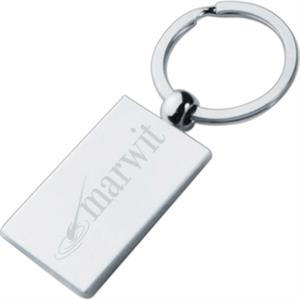 Silver Rectangle Keychains