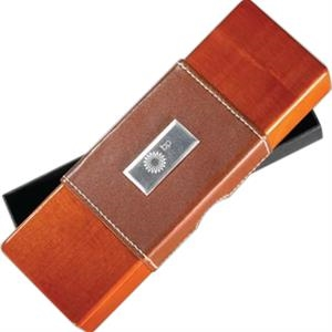 Wood Gift Case With Leather