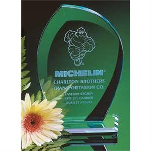 Jade Crystal Leaf Shape Award