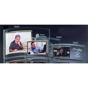 "3"" X 5"" Horizontal Curved Photo Frame"