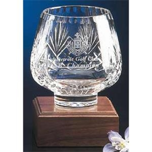 "Westgate Crystal (tm) - Trophy Bowl With Base, 4 3/4"" Diameter"