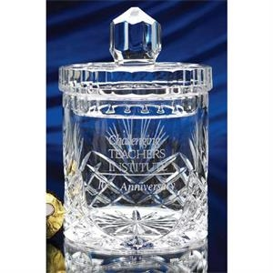 Westgate Crystal (tm) - Fine European Hand Cut Full Lead Crystal Biscuit Jar