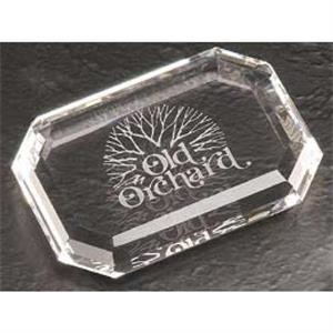 Optical Gem Cut Paperweight