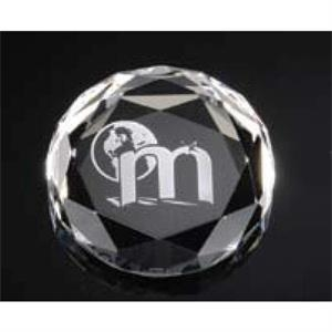 Optimaxx (c) - Round Faceted Paperweight