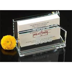 Black-clear - Crystal Clear Business Card Holder