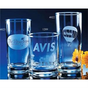 Skyline Classics - Cooler Glass With Sheer Rim And Heavy Sham Bottom, Holds 16 Ounce