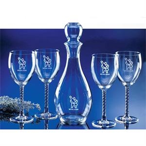 Celebration (tm) - Set Of Four 10 Ounce Wine Glasses With Twisted Stems