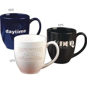Black - 16 Oz White Bistro Mug