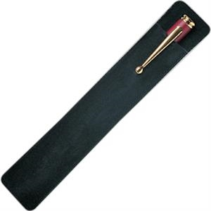Black Velveteen Pen Pouch, Pen Not Included
