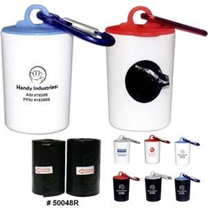 Pet Trash Bag Refills With 20 Color Bags With Paw Print