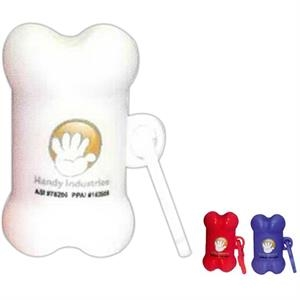 Pet Trash Bag Container, Bone Shape, With Full Color Sticker