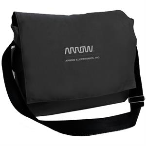 Threads - Nylon Messenger Bag With Flap Closure