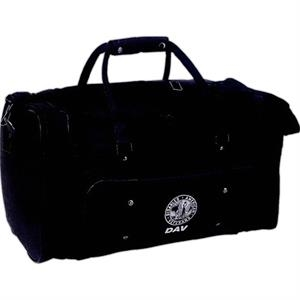 Silkscreen - Simulated Leather Overnight Duffel Bag With U-shape Lid And Shoulder Strap
