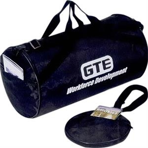 Silkscreen - Nylon Fold-away Roll Bag With Pu Backing