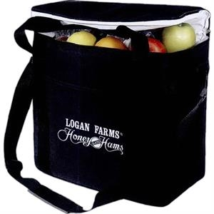 Embroidery - Large Picnic Cooler With Leak-proof Liner, Carrying Handles And Shoulder Strap