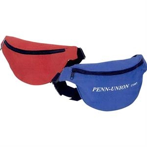 "One Pocket Nylon Fanny Pack With Pu Backing And 50"" Adjustable Strap"