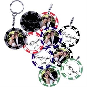 Poker Chip Photo Key Tag