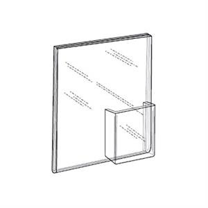 Wall Mount Ad Frame - Sign Holder with Trifold Pocket
