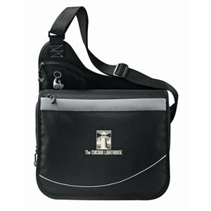 Incline - 600d Polycanvas Urban Messenger Bag With A Zippered Main Compartment