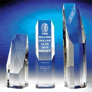 "Premier - Premier 10"" Crystal Award By Crystal World. Sp190"