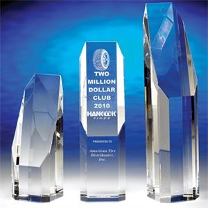 "Premier - Premier 8"" Crystal Award By Crystal World. Sp190"