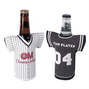 "Bottle Jersey (tm) - Baseball Shirt Style Bottle Insulator Sleeve, 1/8"" Thick"