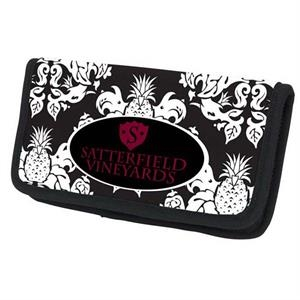 P.k. Reese (tm) - Neoprene Checkbook Cover With Pineapple Damask Design